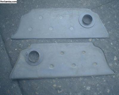 Rear kick panels