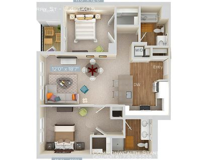 AVAILBLE 10/30!! 2BED/2BATH IN QUINCY - WASHER/DRYER IN UNIT!!