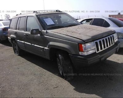 Salvage Gray 1996 Jeep Grand Cherokee