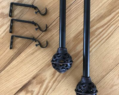 Curtain Rods Set of 2