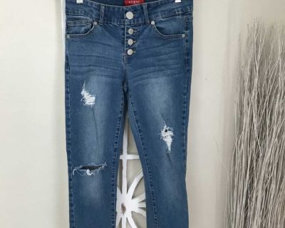 GUESS size 26 DISTRESSED SKINNY JEANS