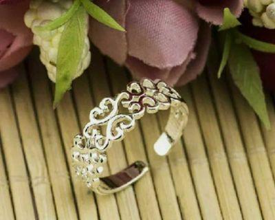 Adjustable .925 stamped heart ring