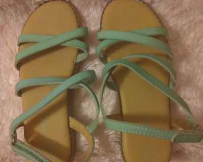 Girls teal green sandals NWOT