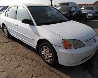 Salvage White 2003 Honda Civic