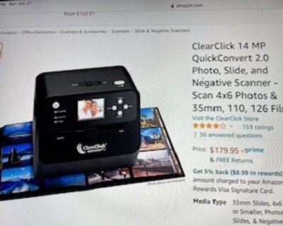 Scanner converter for photos, negatives or slides