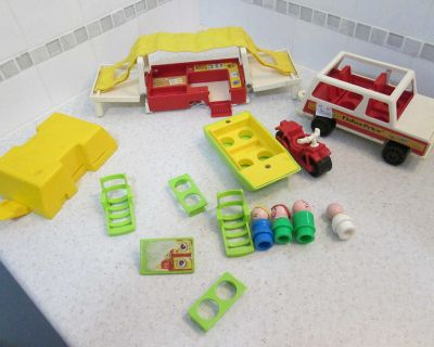 Vintage Fisher Price camping toy set - please read description and see photos in comments