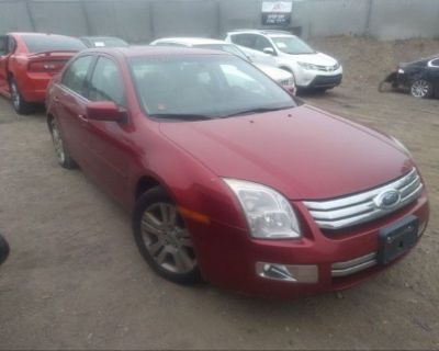 Salvage Red 2007 Ford Fusion