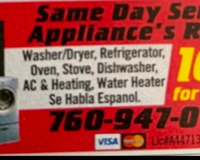 APPLIANCE REPAIR ** AC & HEATING ** ALL MAKES AND MODELS