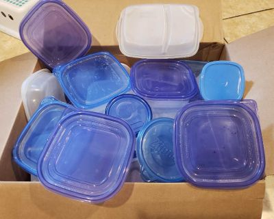 Zip-loc and Rubbermaid containers