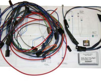 67 Camaro Rs Front Headlight Wiring Harness Kit 500773