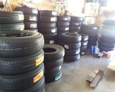New 14 Ply Trailer Tires & 8 Lug Rim ST235/85R16