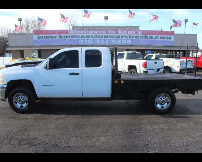 2013 Chevrolet Silverado 3500HD Work Truck Extended Cab 4WD SRW Spike Bale Bed