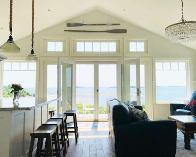 Brand new, year-round oceanfront home at the tip of Potts Pt. Private beach. - Harpswell