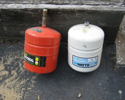 Two Expansion Tanks for Hot Water Heaters