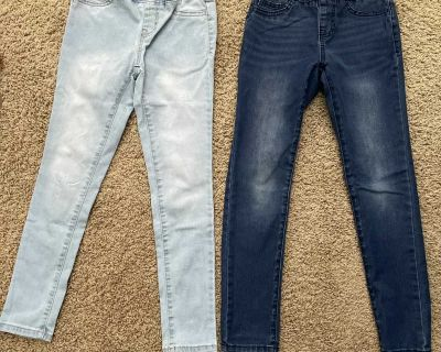 EUC Cat and Jack size 8 pull on jeans. Super stretchy. $12 for both.
