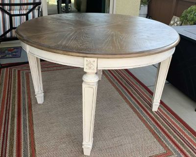 48 + round dining table