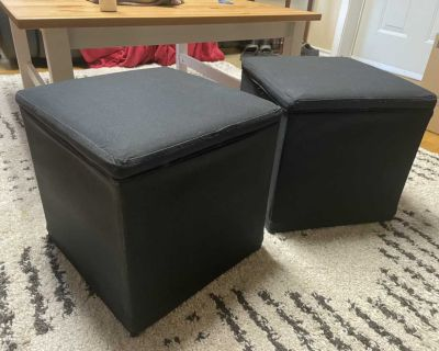 IKEA Bosn s footstools with storage