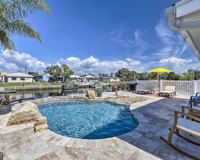 NEW! Port Richey Canalfront Cottage w/ Dock & Slip - Gulf Harbors