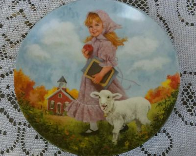 Mary Had A Little Lamb Vintage Collectible Plate By John Mc Clelland 1985