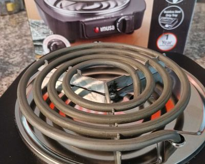 Stove top burner portable electric plugs in