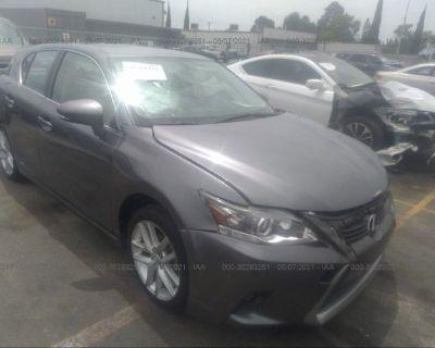 Salvage Gray 2015 Lexus Ct 200h