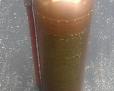 Antique Copper and Brass Empire Fire Extinguisher