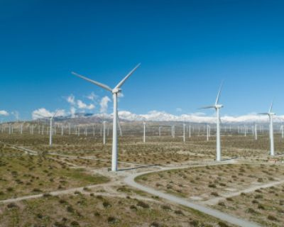 Private Wind Farm with iconic wind turbines as back drop, Palm Springs, CA