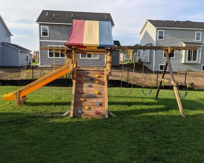 Rainbow Swing Set - Completely Refurbished!