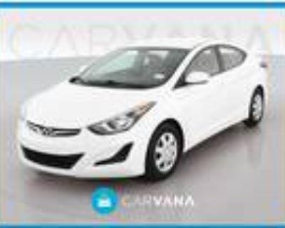 2016 Hyundai Elantra White, 80K miles