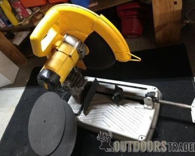 FS/FT > DEWALT Corded 14 in. Abrasive Cut-Off CHOP SAW w/ 2 Extra Blades, CHEAP