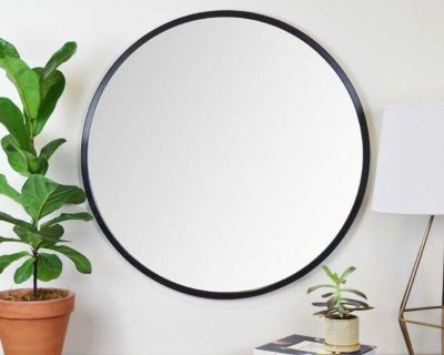 """18"""" Contemporary Rubber Framed Accent Mirror"""