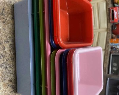 Hard plastic toy storage containers