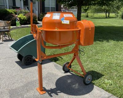 3.5 cubic foot electric cement mixer