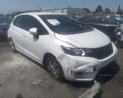 Salvage White 2017 Honda Fit