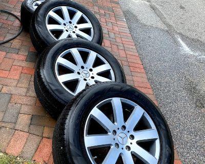 OEM G550 8 Spoke wheels & Pirelli tires, 5K mile takeoffs...