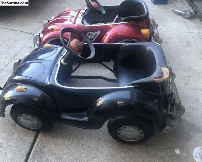 Volkswagen black pedal car