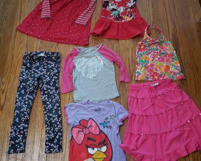 Lot of 7 Girl Clothing Dress Halter Legging Skirt Shirt