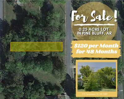 0.25 Acres for Sale in Pine Bluff, AR