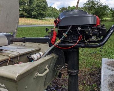FS/FT 12ft Tracker Jon Boat w/ trailer