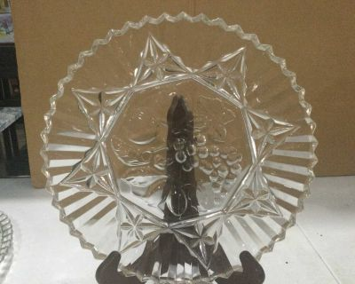 Decorative Clear Glass Serving Tray