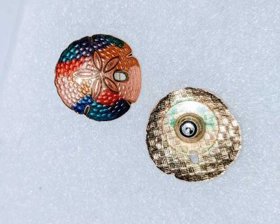 Vintage sand dollar earrings