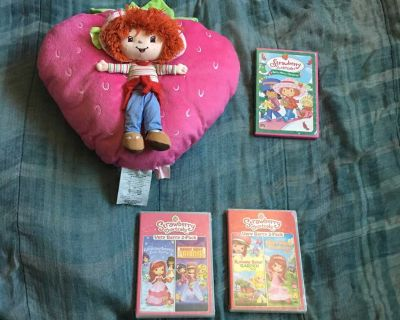 Lot Of Strawberry Shortcake Plush Toy And DVDs