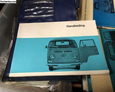 Original VW Bus owners manual 1970