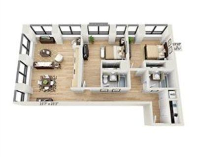 3 Rooms for rent, Huge 2 Bedroom, Flex 95 Wall