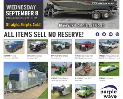 September 8 vehicles and equipment auction