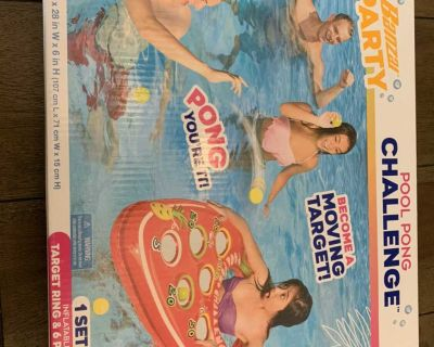 NEW BANZAI Pool Pong Game, Inflatable Floatie Ring
