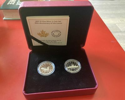 2017 Canadian $1 30th Anniversary of the Loonie Fine Silver (99.99%) 2-Coin Set