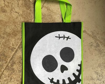 Halloween Tote Bag (Skeleton) Like New