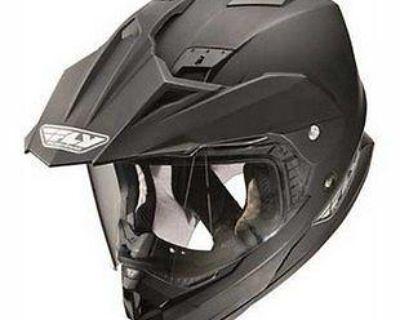New Fly Racing Trekker Dual Sport Motorcycle Matte Black Helmet Size: Md-2xl