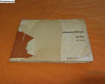 1967 type 3 owner's manual